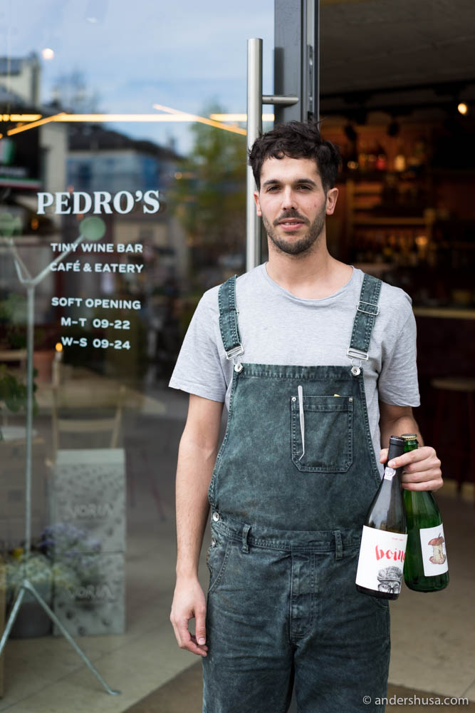 Pedro Caiado outside his new wine bar