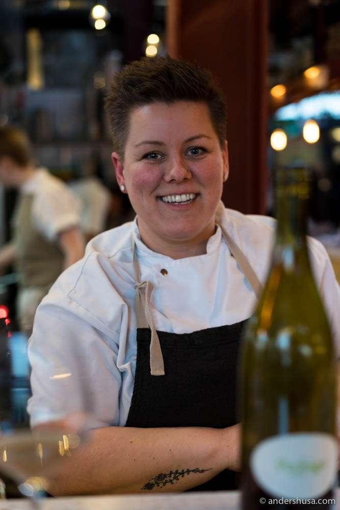 Head chef of Skál – Fanney Dóra Sigurjónsdóttir