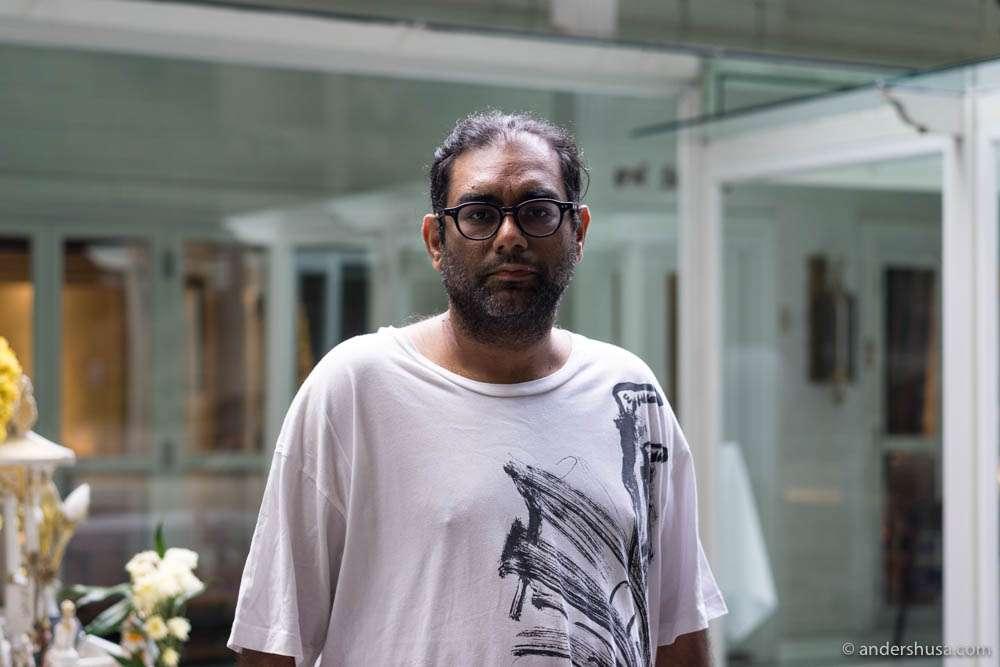 Gaggan Anand outside Restaurant Gaggan