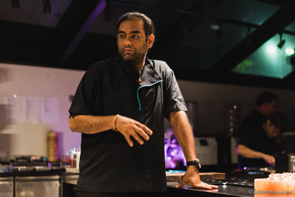 Gaggan Anand, aka the Nutty Professor, in the lab of restaurant Gaggan