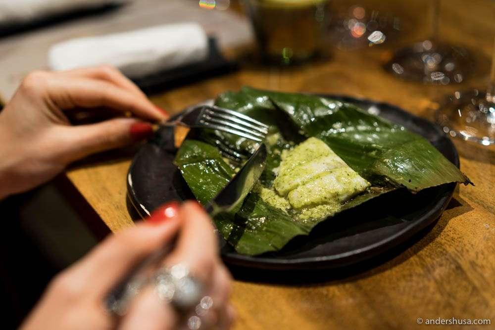 Seabass and Bengali mustard