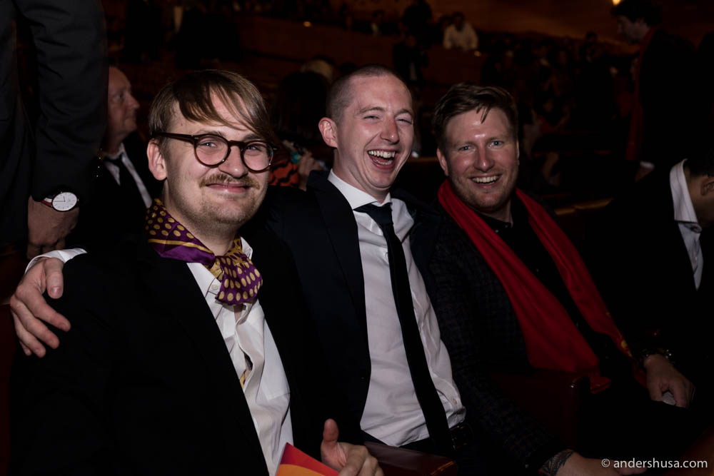 Team Maaemo in the audience