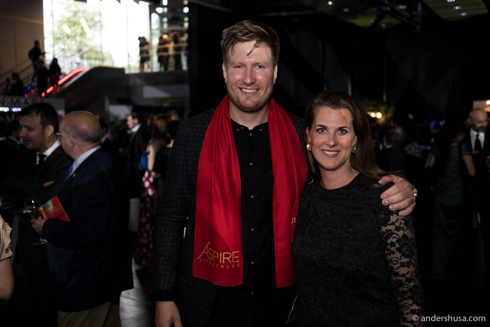 Esben Holmboe Bang and his wife Kaja
