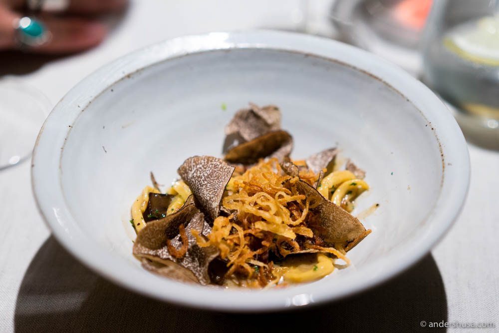 Spätzle – soft egg noodles, with Allgäuer mountain cheese & winter truffle