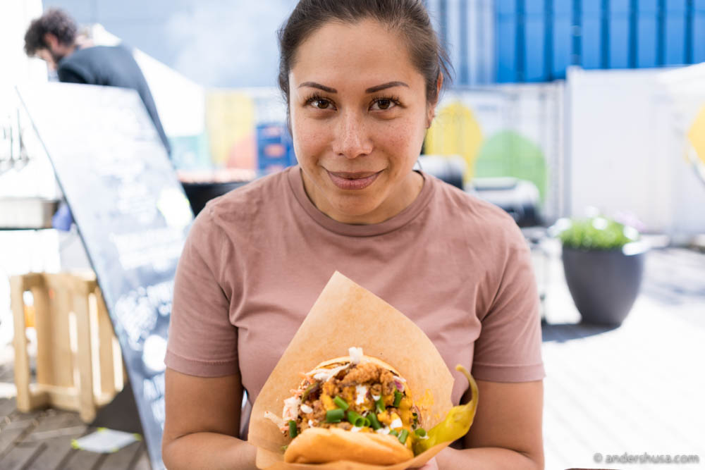 That look in your face when all you want is to bite into a juicy chicken sandwich, but some obnoxious guy with a camera demands to take a photo first