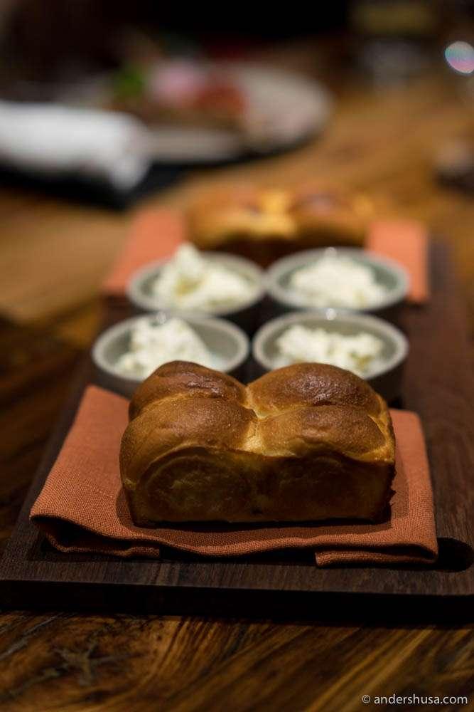 Lamb Keema Pao & homemade butter