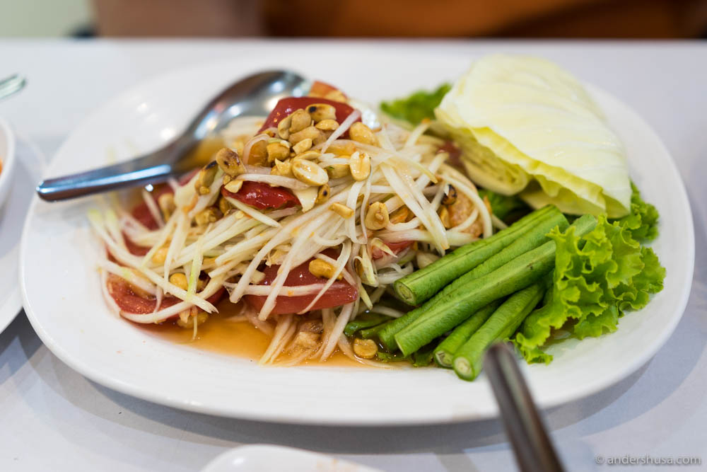 Spicy Papaya Salad (THB 70)