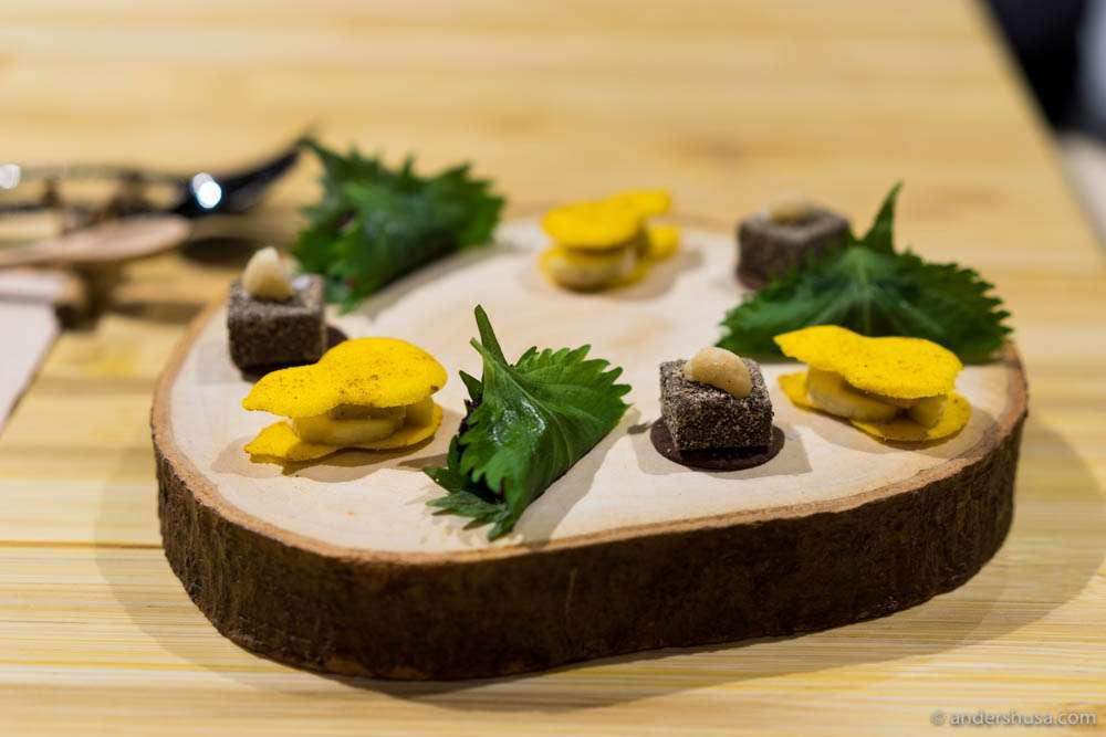 Zen Garden – goma, cheese & shiso-an
