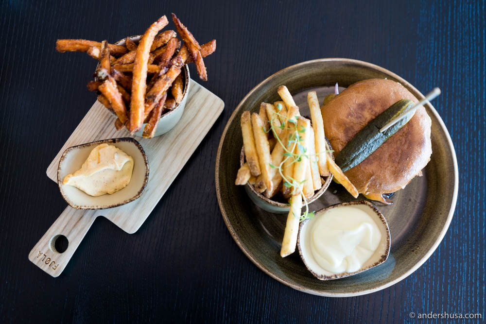 Get the sweet potato fries and baconnaise on the side