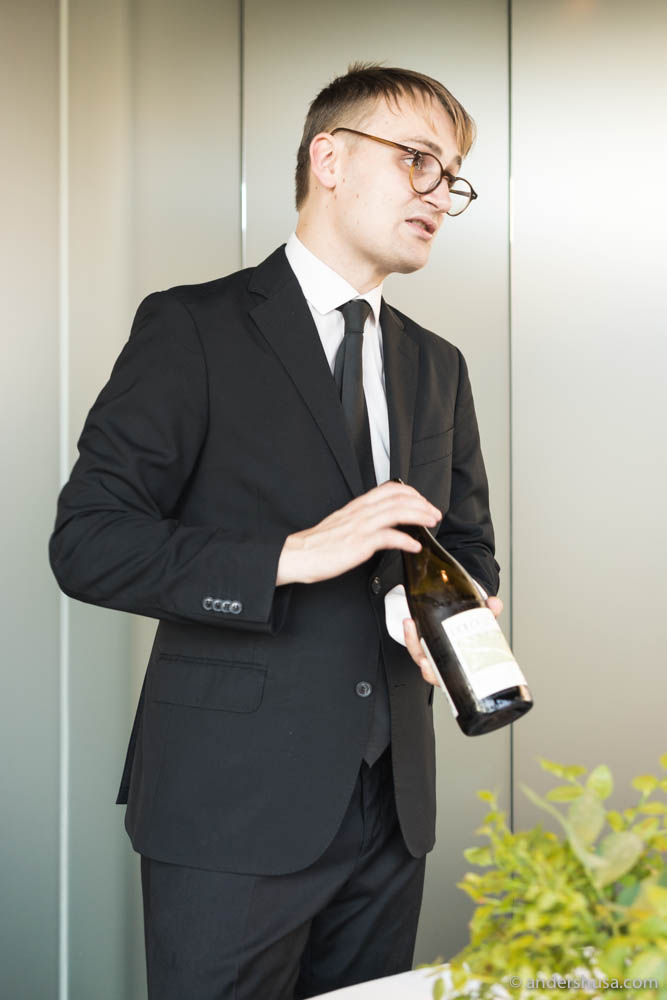 Maaemo's head of wine – Jefferson Goldring.