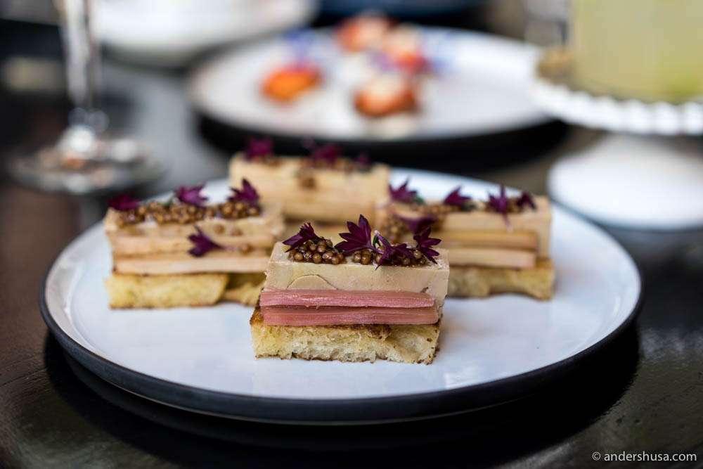 Terrine au foie gras with sticky figs, raspberry mustard & toasted brioche