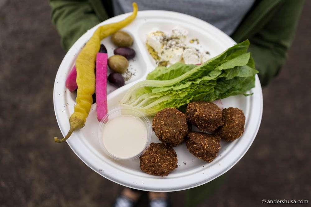 Falafel platter from Ben Reddik
