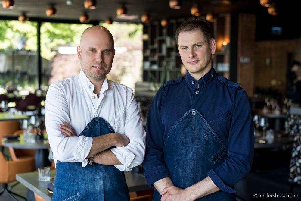 Executive chef Tõnis Siigur and the head chef at Tuljak – Lauri Alvari
