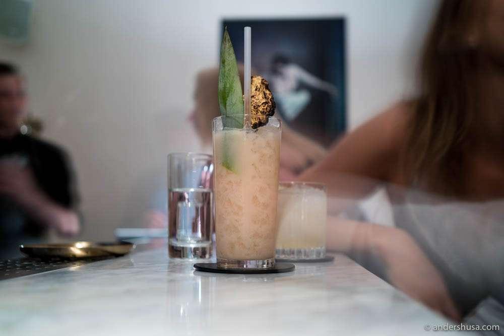 Rikitikitiki – Pineapple, rum, chartreuse & bitters