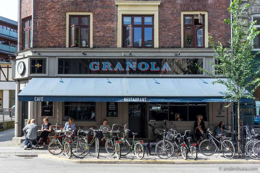 Granola Café where you enjoy a complimentary breakfast