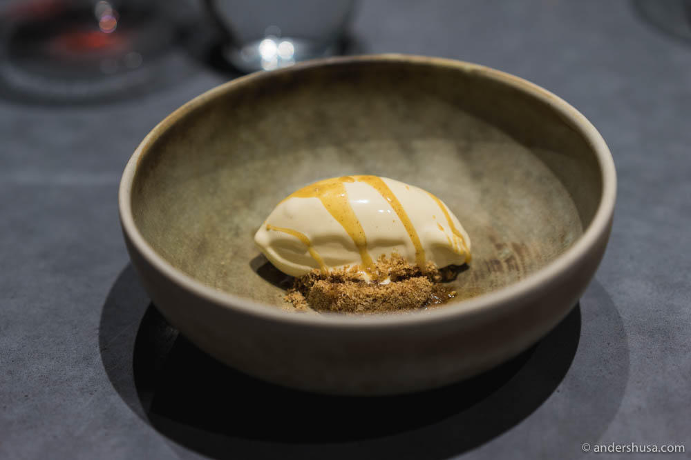 Another signature dish of browned butter ice cream