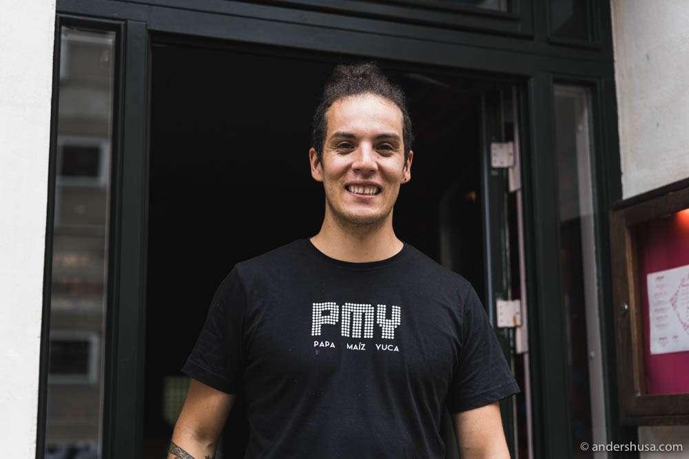 Chef Karlos Ponte at restaurant PMY