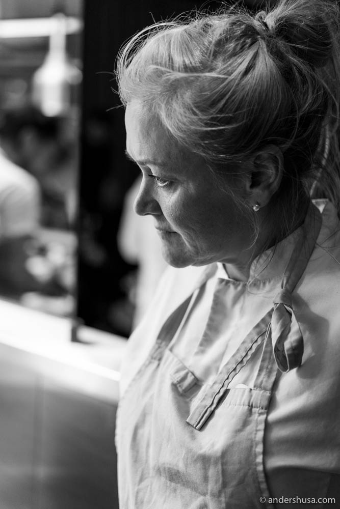Chef Heidi Bjerkan of restaurant Credo in Trondheim, Norway