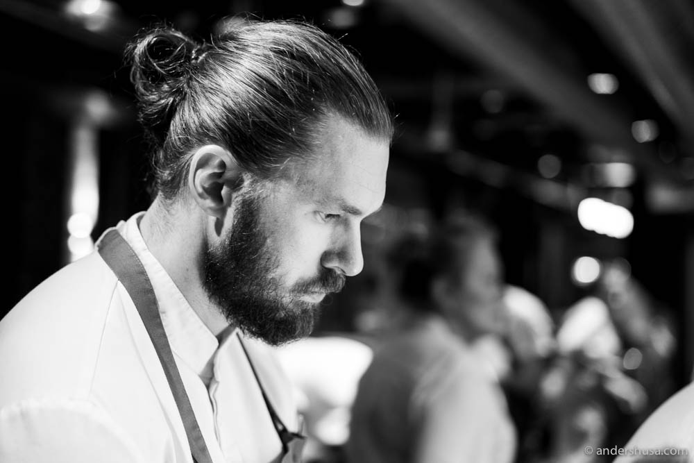 Chef Mikael Svensson hosted the event at his restaurant Kontrast in Oslo, Norway