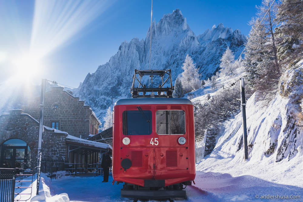 "Take the ""Polar Express"" to the top of the glacier in Chamonix"