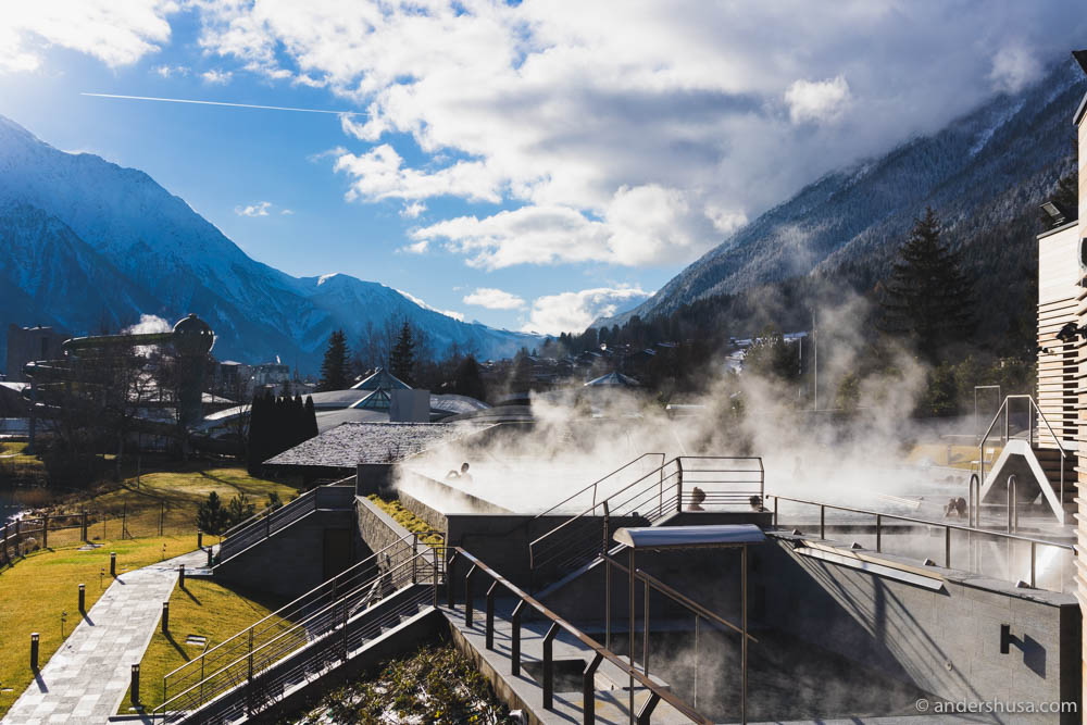 Spa time at the new luxurious QC Terme spa of Chamonix