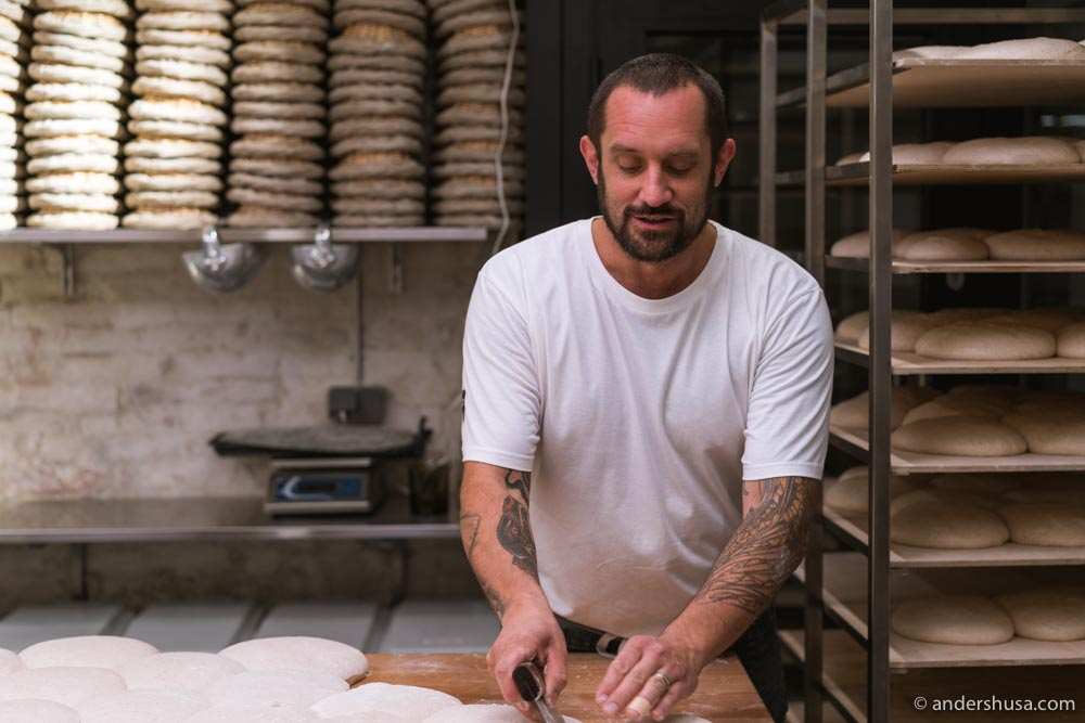 Head baker Richard Hart.