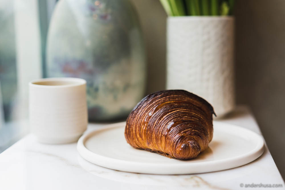Perfect croissant at Juno the Bakery