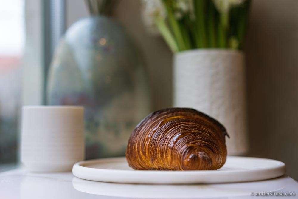 Juno's perfect croissant.