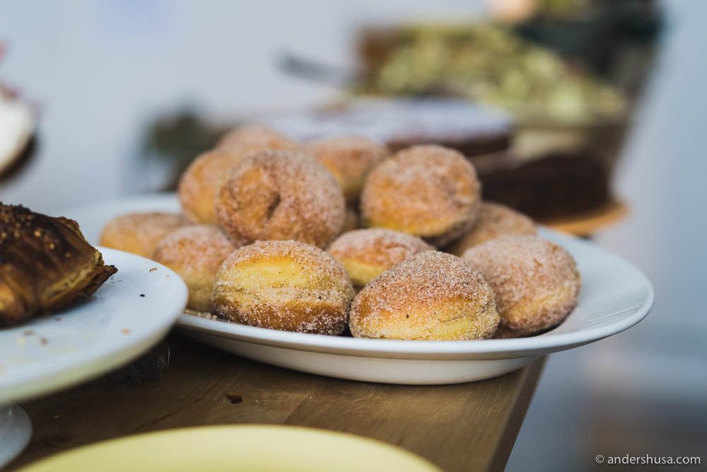 Berliner doughnuts with filling