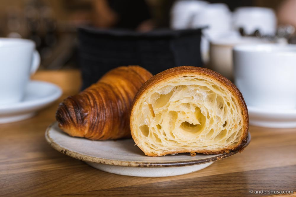 You won't find more perfect plain butter croissants than at Alice.