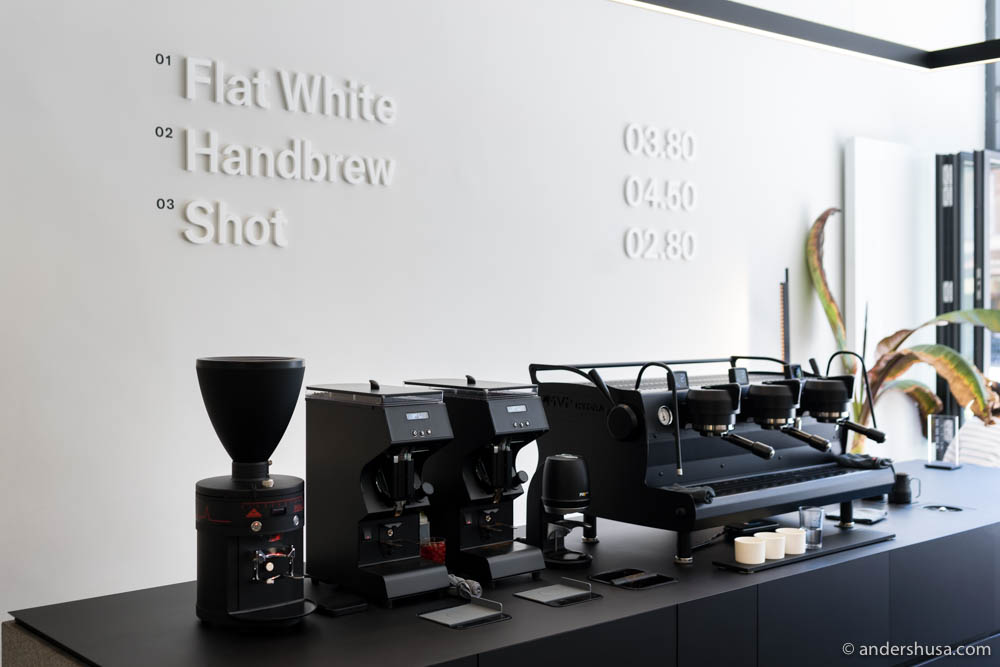 Have you ever seen a more impressive-looking lineup of coffee machines?