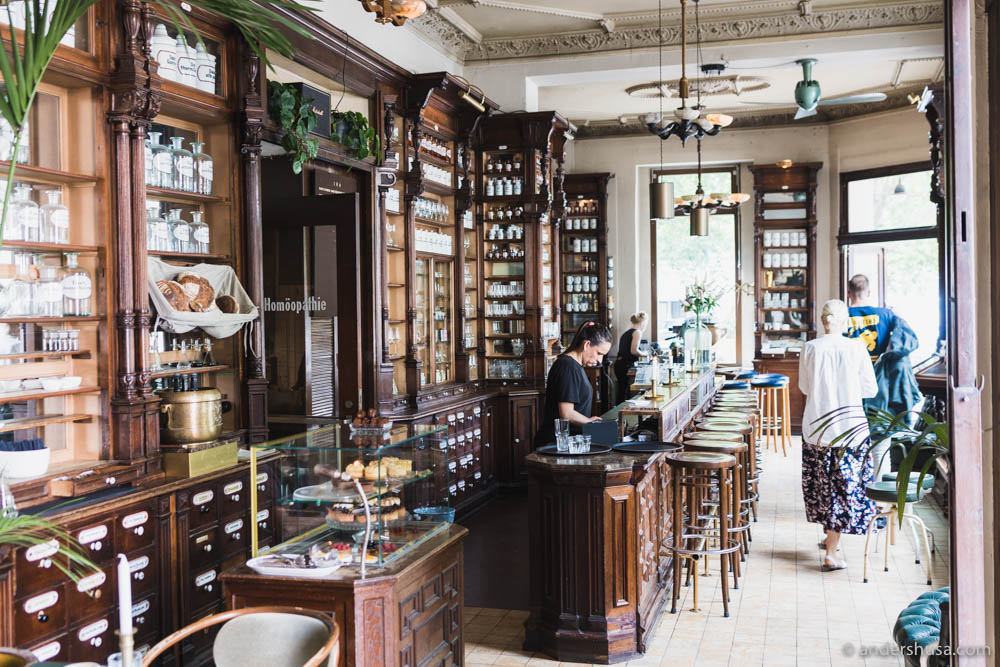 The beautiful old pharmacy has been preserved to a large degree at ORA