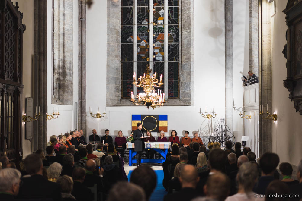 Attending the semi-religious truffle ceremony in Visby cathedral