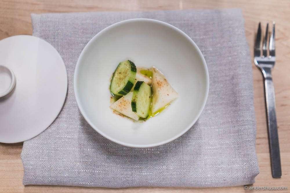Cucumber & Angelo's melon