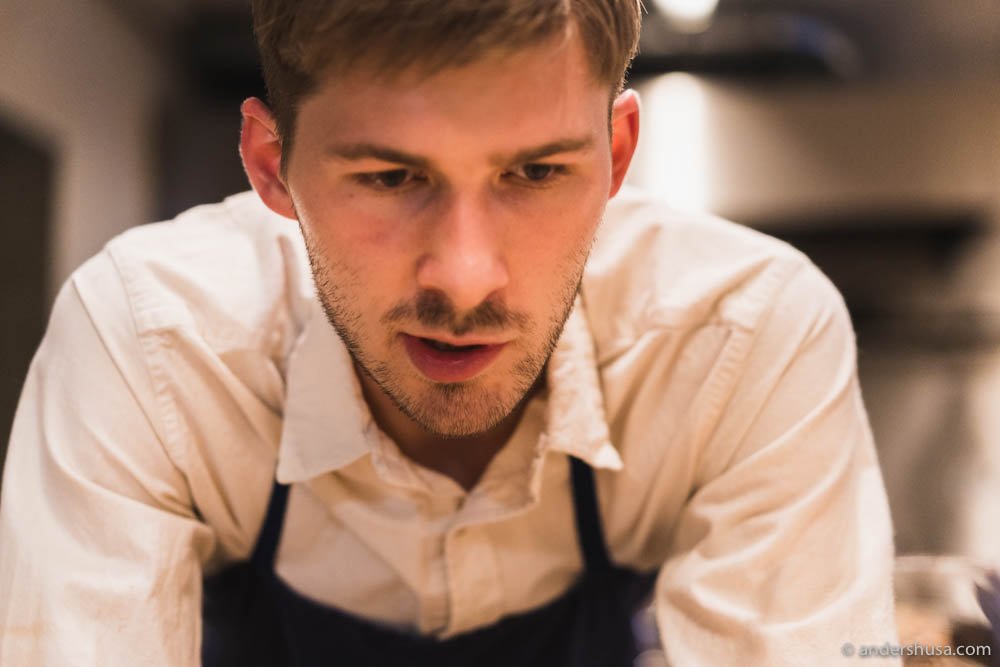 The 26-year-old chef Dylan Watson-Brawn
