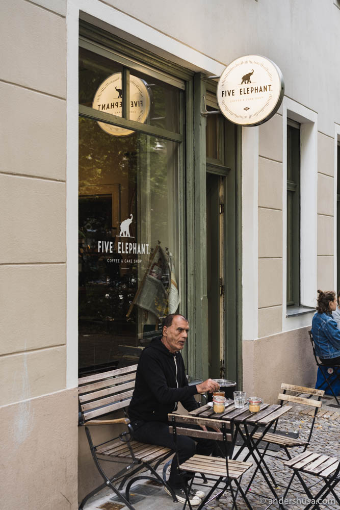 Five Elephant coffee shop in Kreuzberg