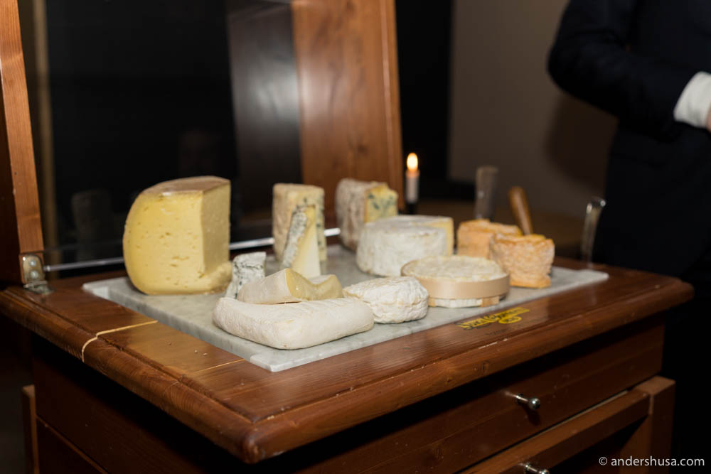 Colonialen's cheese trolley