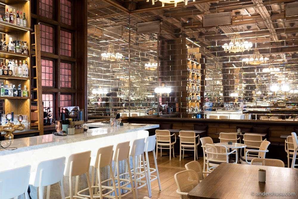 The bar of Bare Restaurant
