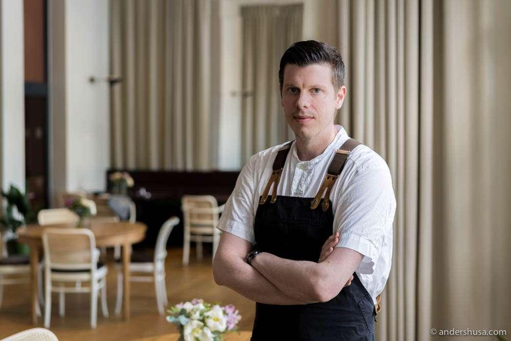 Head chef Fred Owe Tofting