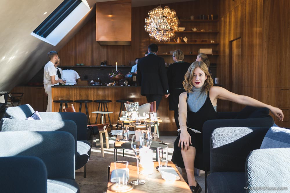 Every meal at Frantzén starts in the penthouse lounge