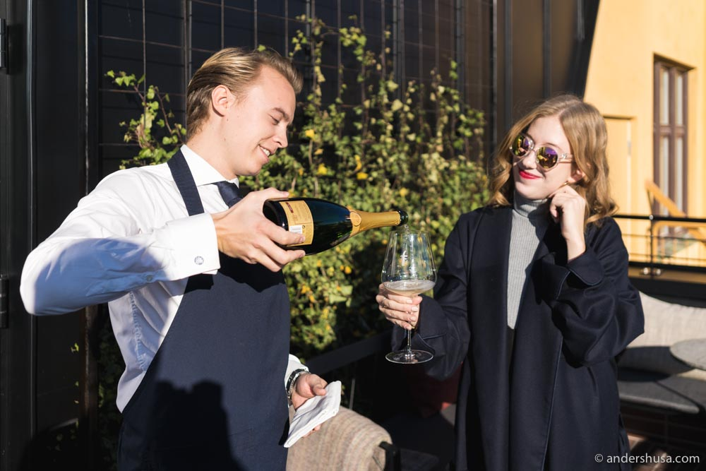 More Krug Champagne, ma'am? Why, yes, please!