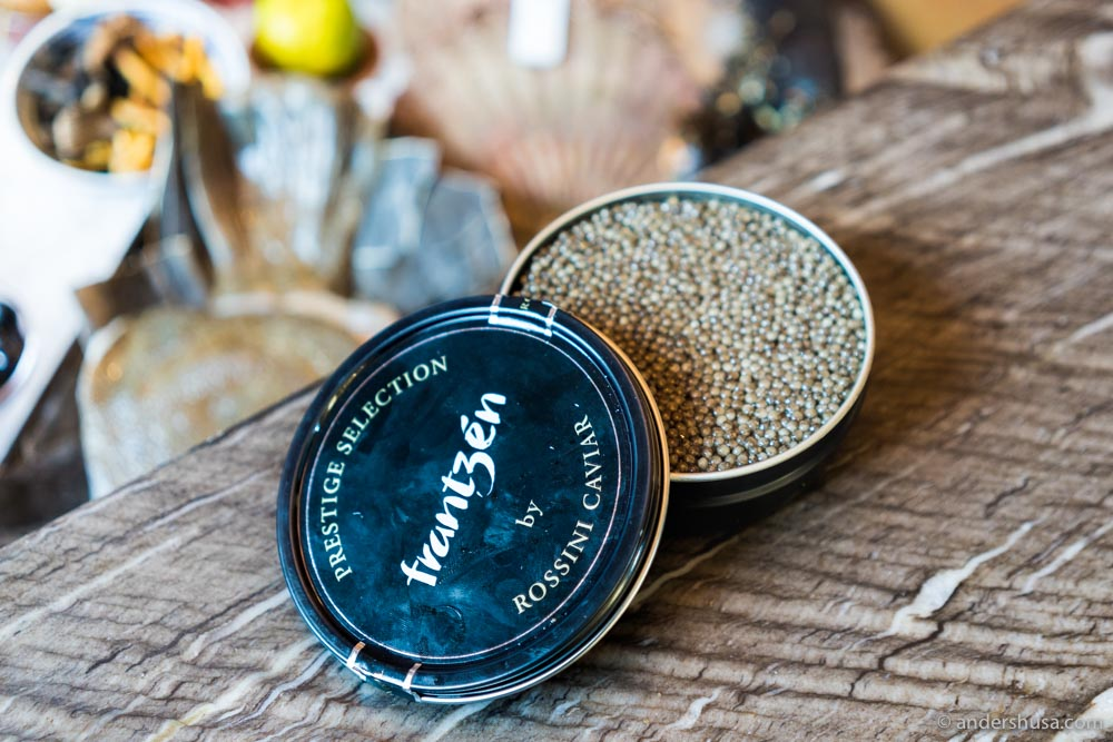 Frantzén's own Prestige Selection caviar from Rossini