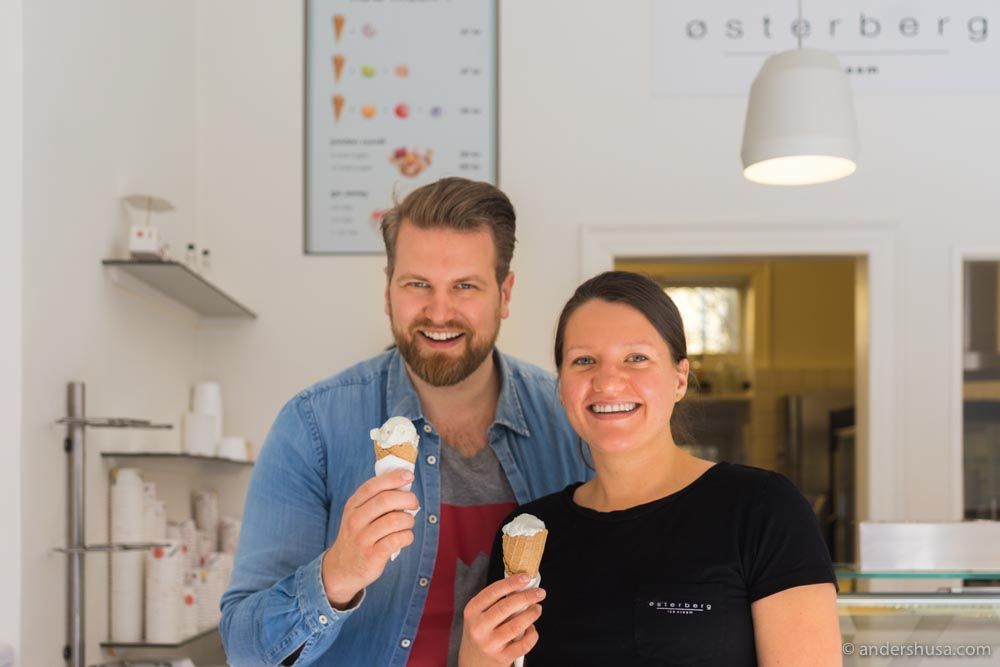 Learning to make ice cream from the master – Cathrine Østerberg