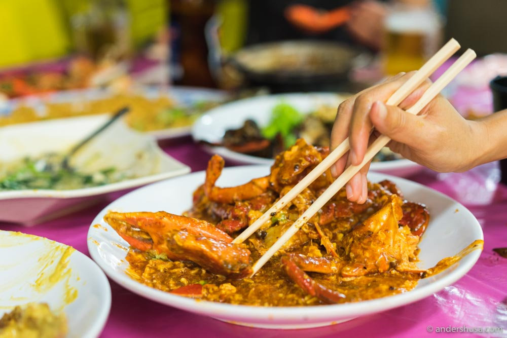 Singapore-style chili crab