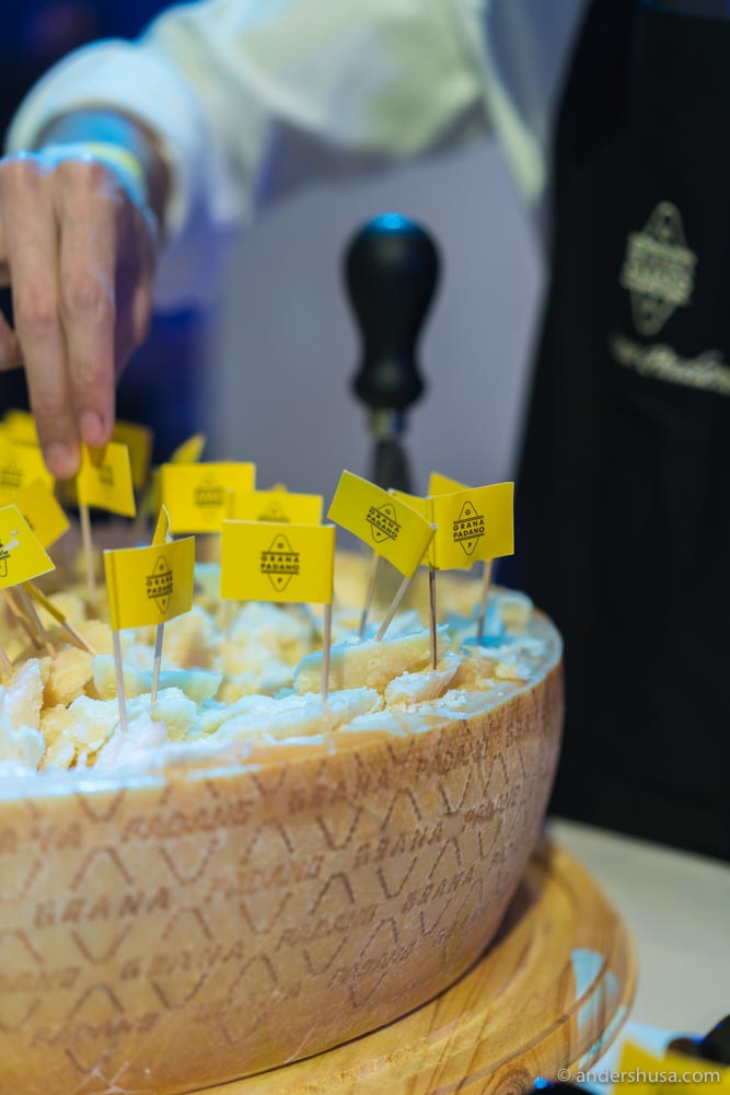 The Italian cheese brand Grana Padano is one of the sponsors of W50B