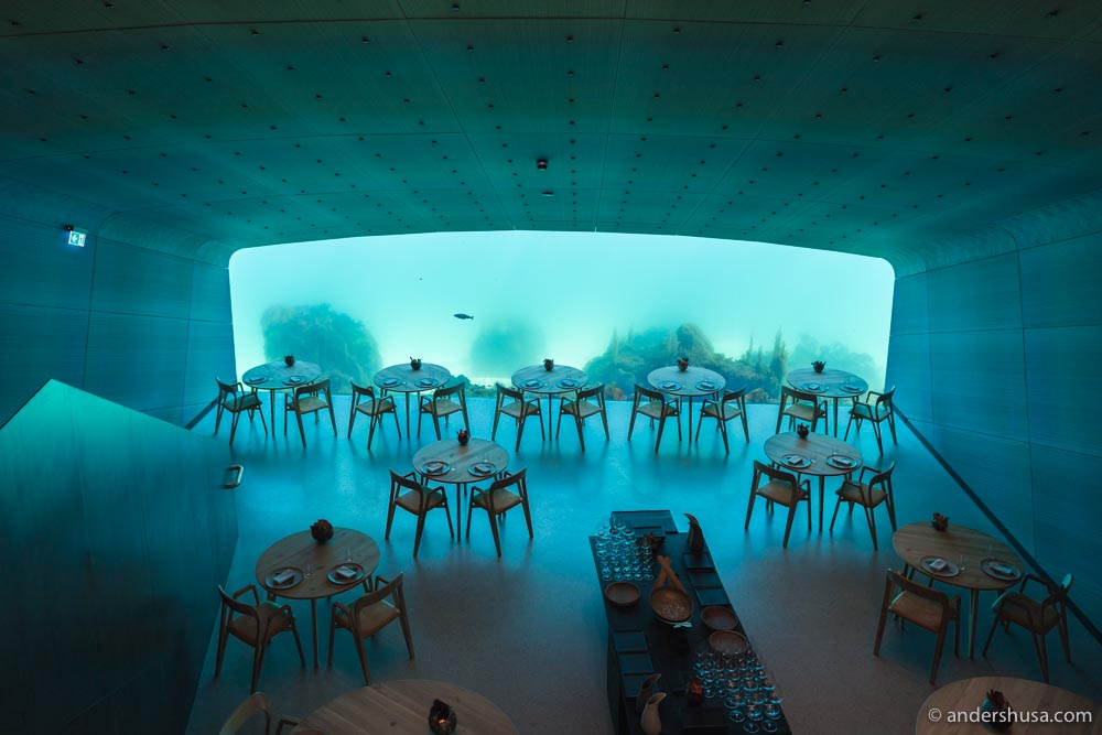 The work for 360 Eat Guide has taken us to many exciting restaurants in Norway – like the world's largest underwater restaurant Under.