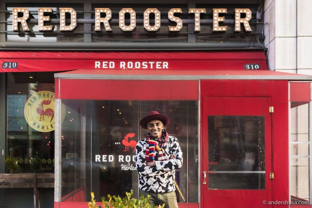 We met Marcus for lunch at his restaurant Red Rooster in Harlem
