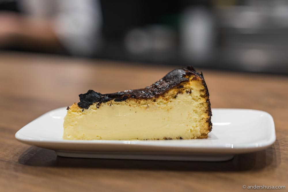 In Los Angeles, we tried Dialogue restaurant's tribute to the Spanish cheesecake.
