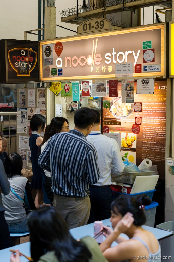 A Noodle Story in Amoy Street Food Centre