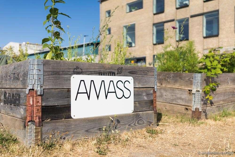 Restaurant Amass is located at Refshaleøen in Copenhagen and has its own urban garden.